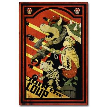 Poster Décor Mural Vintage Bowser Super Mario Bros
