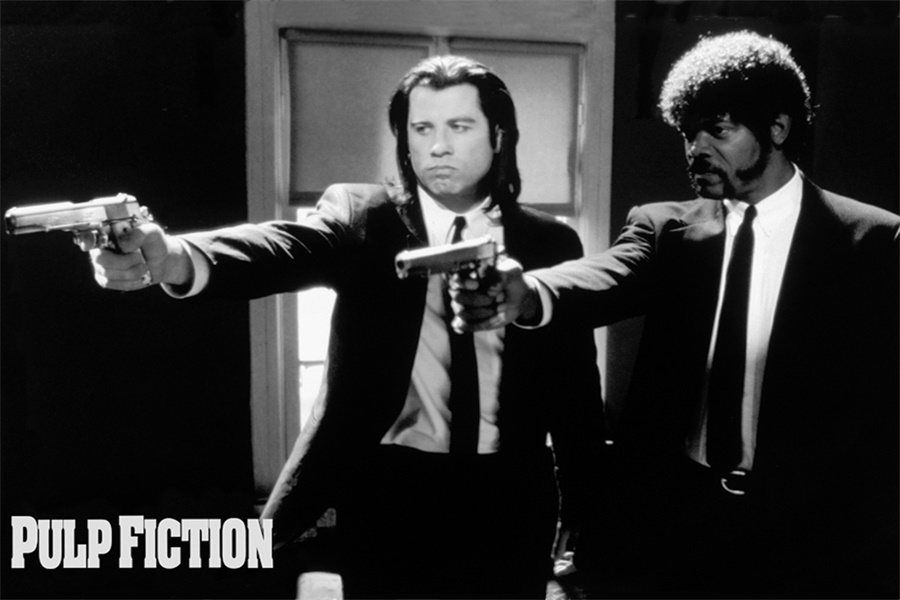 ᗚCustom Canvas Art Pulp Fiction Poster Pulp Fiction Wall Stickers ...