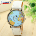 New Desigh 2016 hot sale  New Global Travel By Plane Map Women Dress Watch Denim Fabric Band  Sep20 send in 2 days