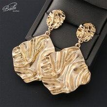 Badu Big Metal Drop Dangle Earrings For Women Geometric Wedding Party Earring Vintage Gifts Bohemian Bijoux