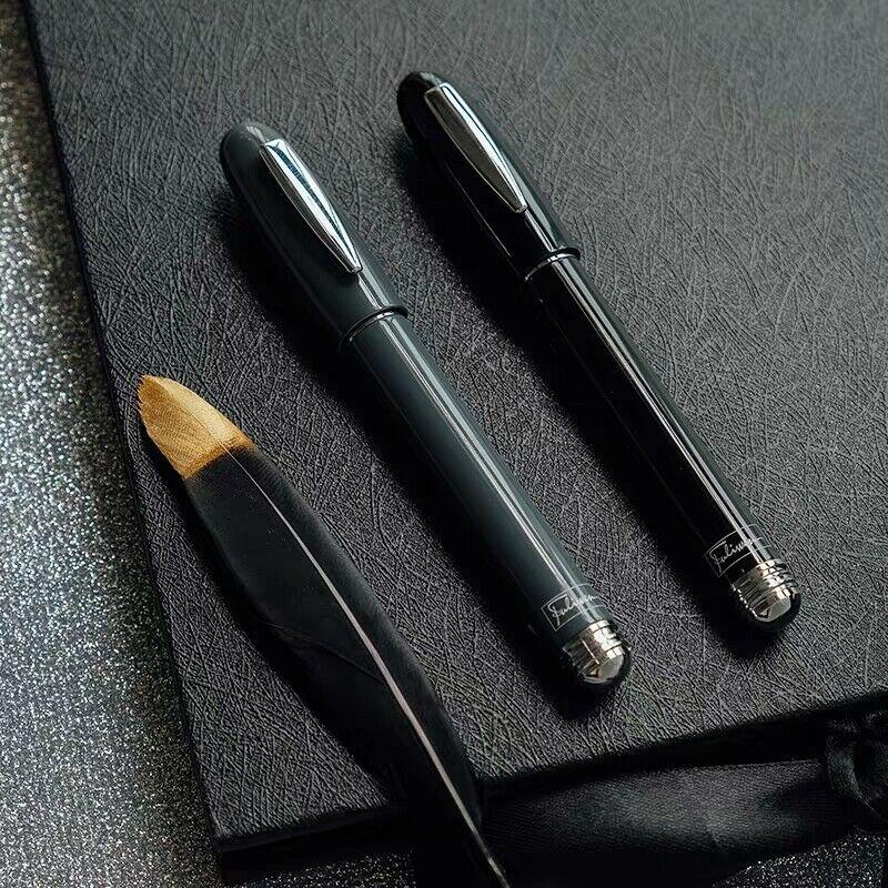 Old Stock Fuliwen 2062 M Nib Fountain Pen Fashion Travel Ink Pen Screw Cap Pocket Pen 2010S Stationery Office School Supplies