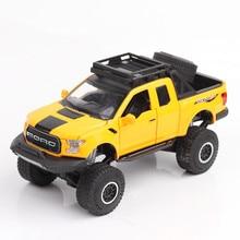 1:32 Scale Metal Diecasts Toy járművek hang és fény Nagy kerekek Shockproof szimuláció Alloy Car Boys Oyuncak Juguetes