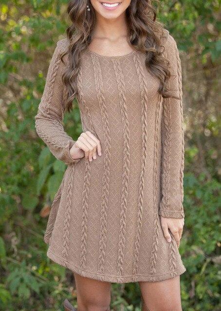 Plus Size Short Sweater Dresses