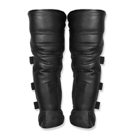 New Kneecap Man Leg Women Leather Black For Motorcycle Biker Guard Fitting Universal Professional Latest