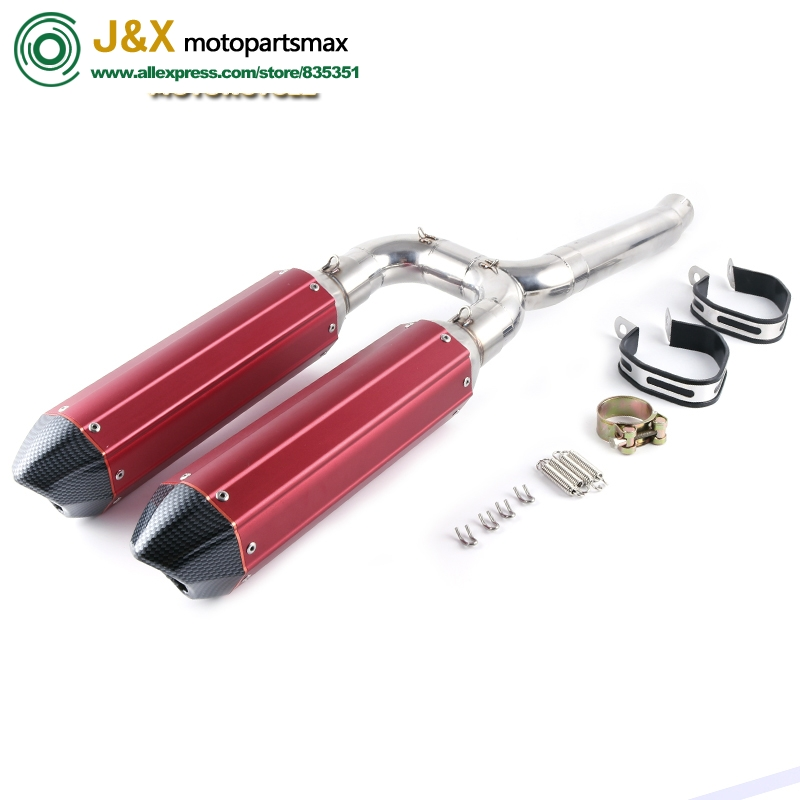 FZ6S FZ6N Motorcycle Exhaust Muffler pipe Connecting pipe Exhaust Full System Slip On For yamaha FZ 6N FZ 6S FZ6