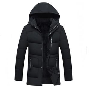 Image 3 - קריא חדש 2020 גברים Jacket מעילים לעבות חם חורף מעילי גברים דובון סלעית להאריך ימים יותר כותנה מרופדת מזדמן מעיל