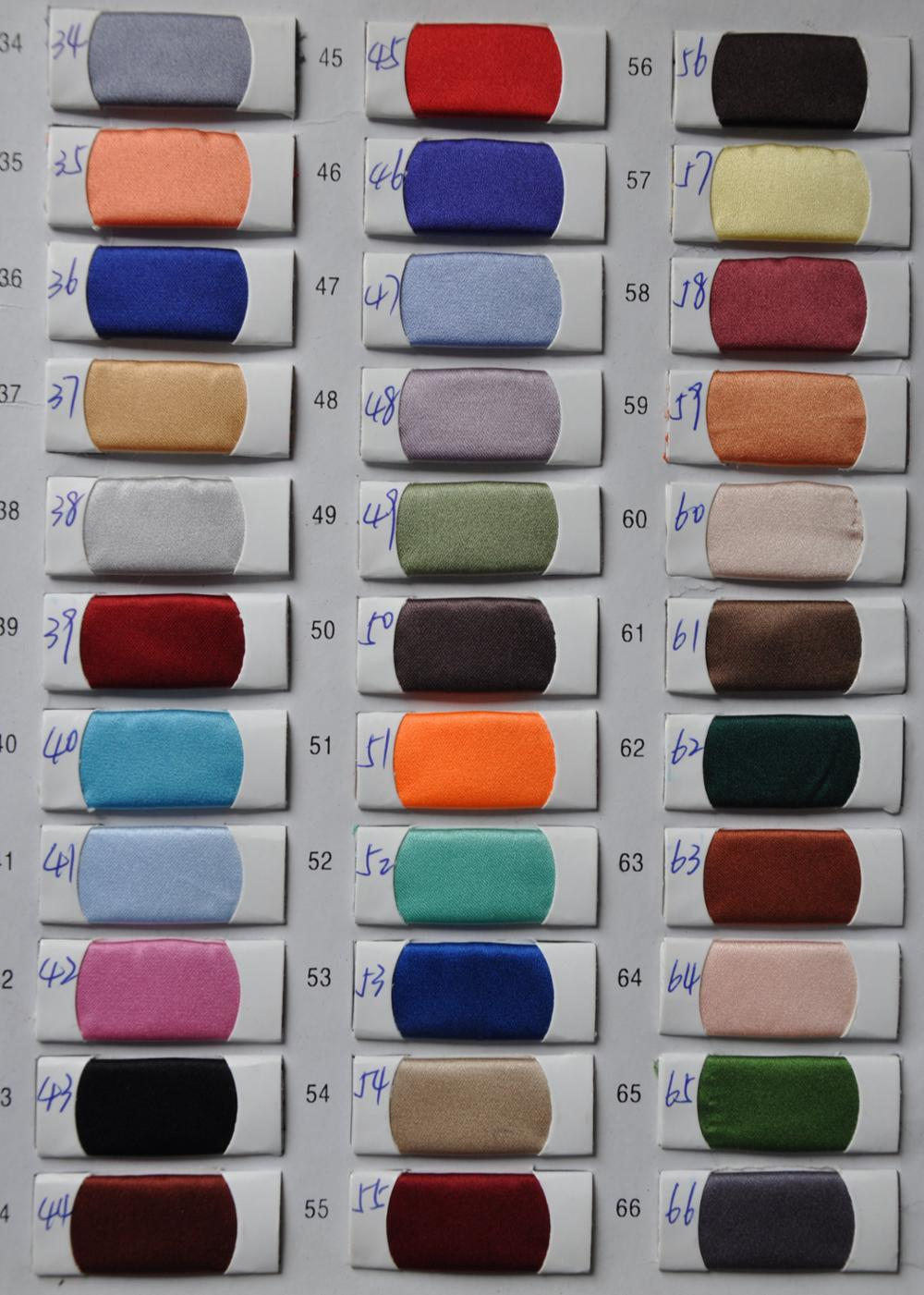 Satin Color Chart 2