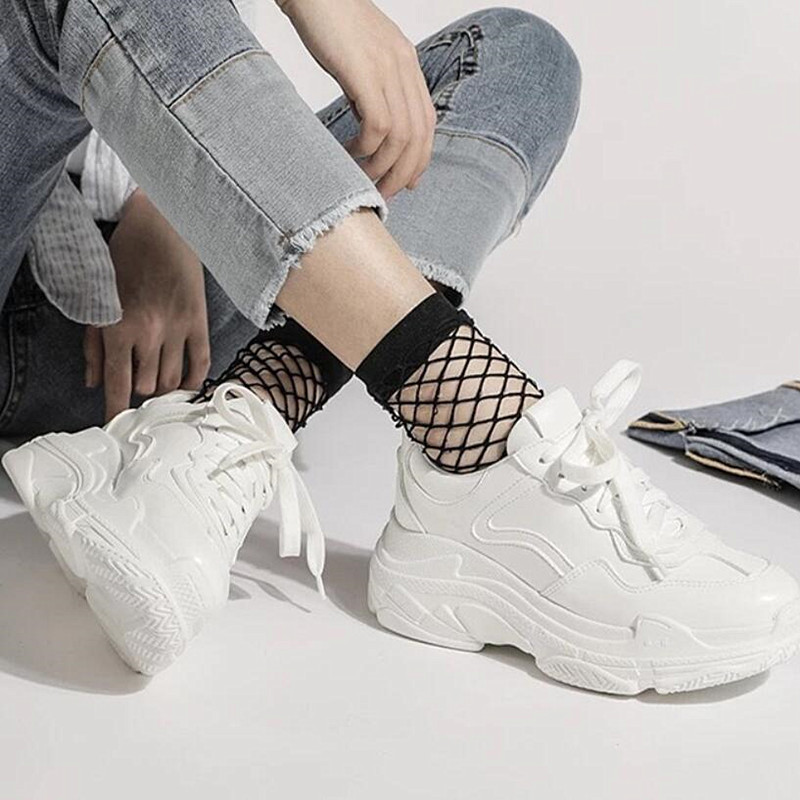 Mhysa 2019 New Summer White Mesh Women Sneakers Fashion Thick Bottom Womens Platform Sneakers Casual Shoes Zapatos De Mujer