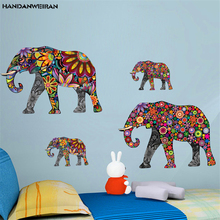 35*60CM New Elephant pattern folk style posters stickers  children room decorative wall can remove