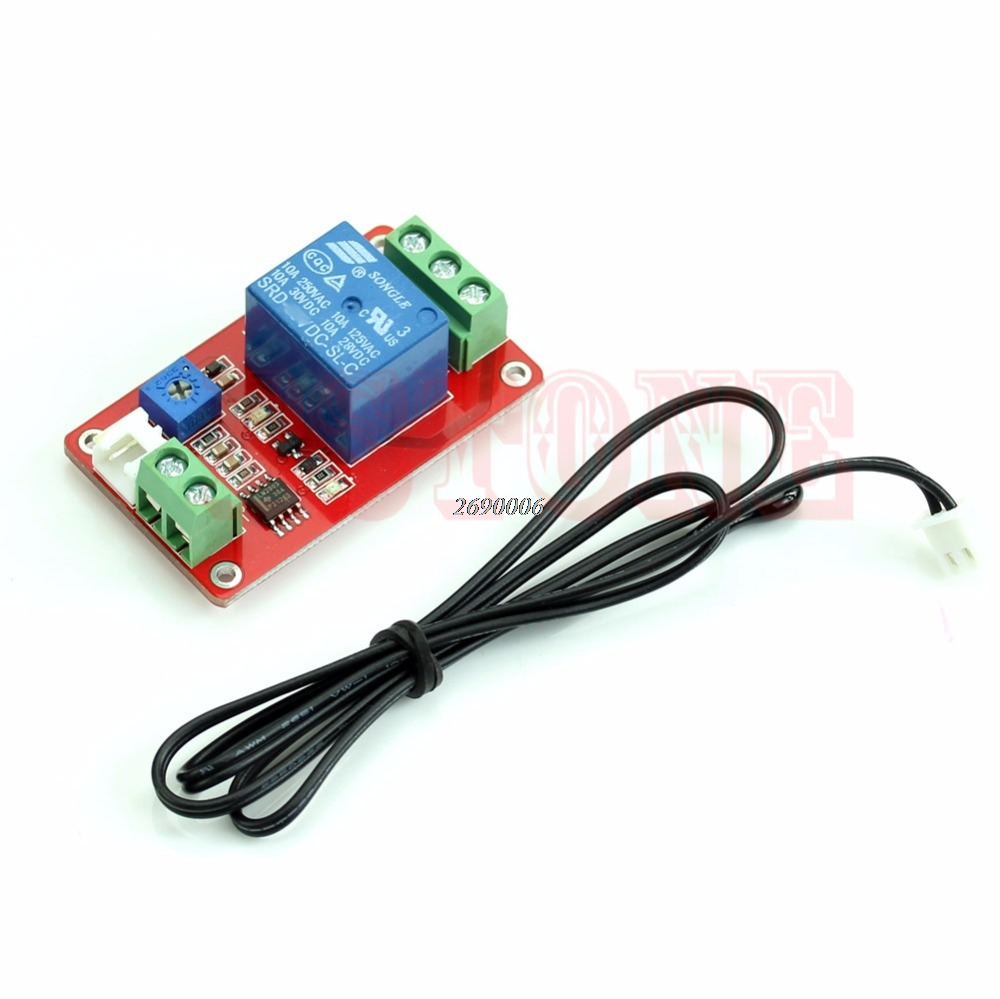 12V DC 1 Detection Control Switch Channel Thermistor Relay Sensor Temperature official doit thermistor relay control module temperature sensor detection switch 5v 12v robot diy rc electronic toy robot