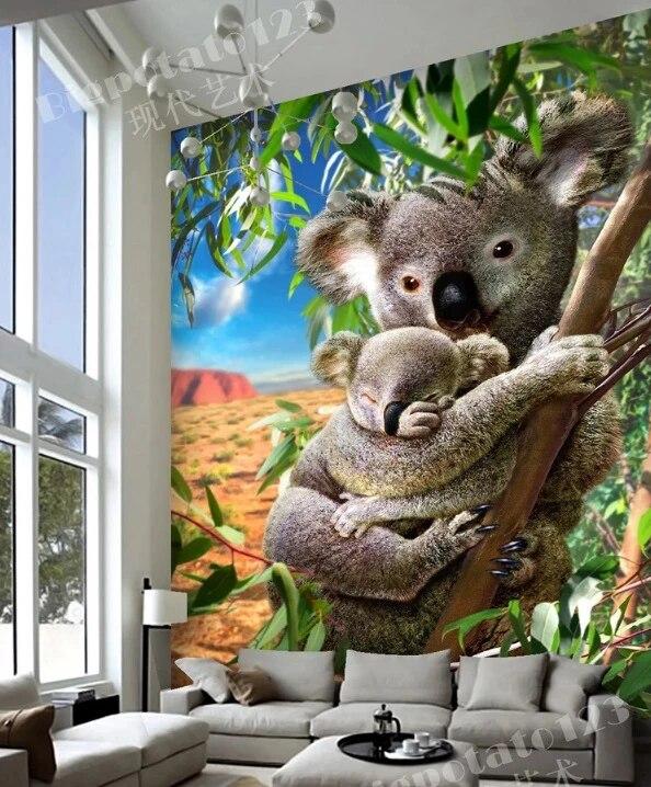 Lukisan Dinding 3d : lukisan, dinding, Gratis, Pengiriman, Koala, Beruang, Pintu, Lukisan, Dinding, Wallpaper, Mural, Cetak, Stiker, Perekat, Bungkus|Wall, Stickers|, AliExpress