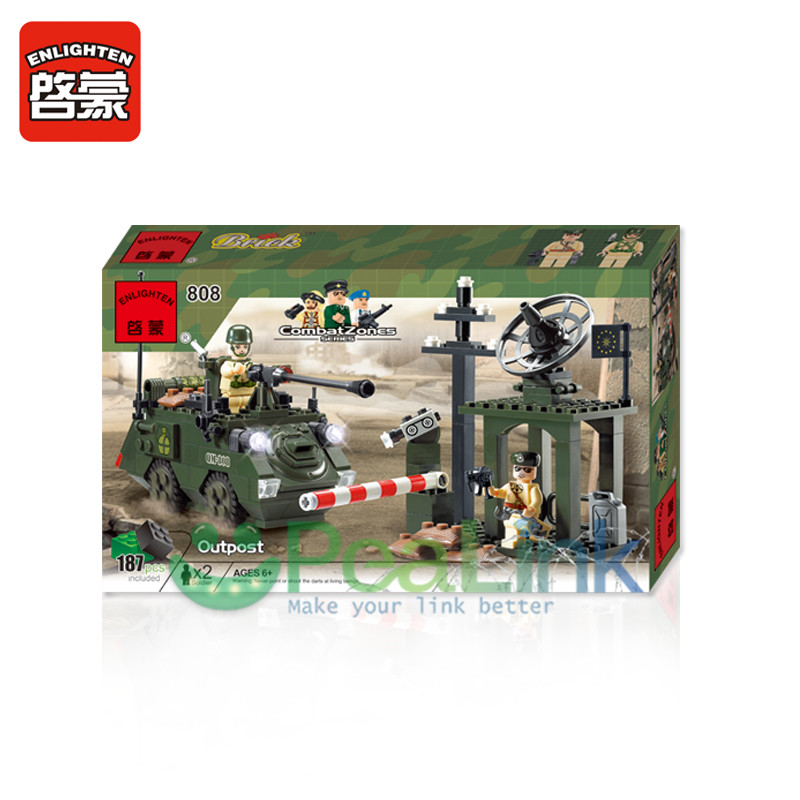Toys & Hobbies Friendly 1708 206pcs Military Series Combat Zone Special Assignment Gun Battle Enlighten Building Block Bricks Toy Blocks