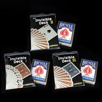 Original Bicycle Invisible Deck Version 1 or 3 Amazing Magic Cards Close Up Street Magic Tricks Magic Props Mentalism Comedy Toy цена 2017