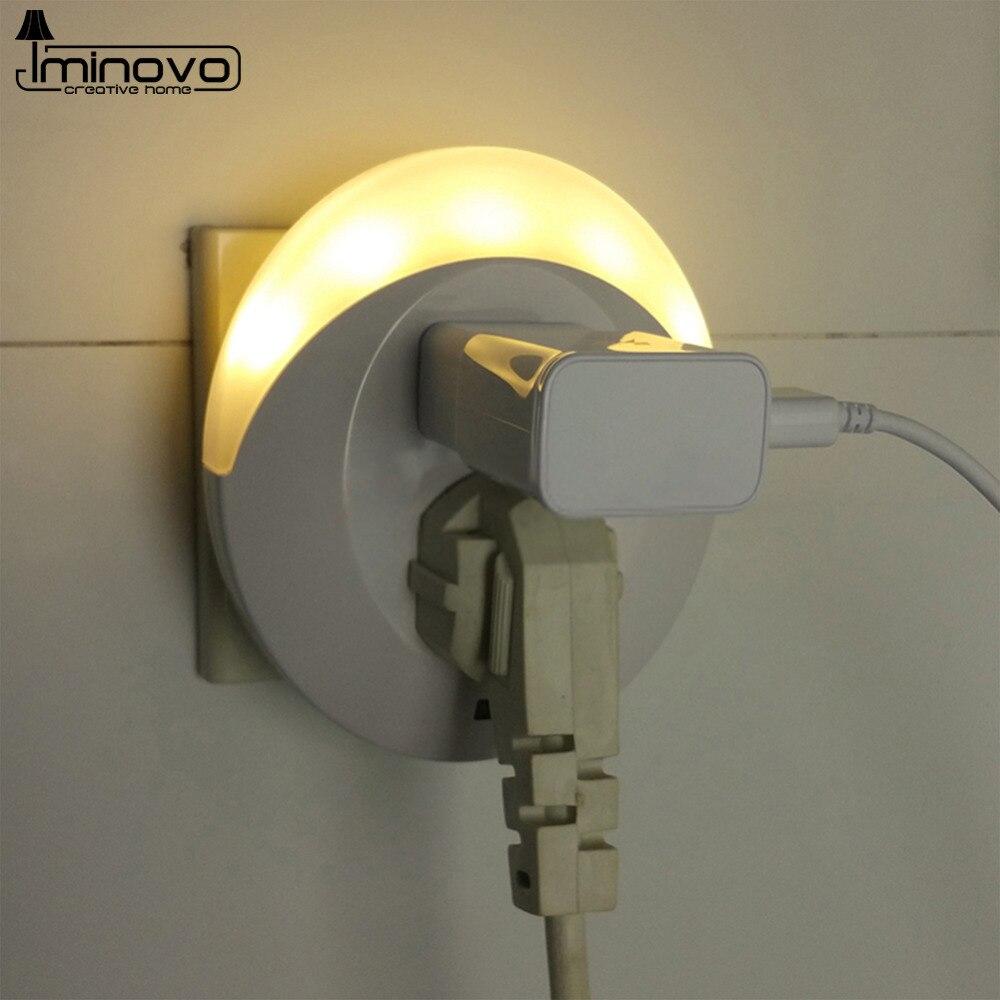 Wall Night Lamps : Aliexpress.com : Buy IMINOVO Light Control USB Night Lights Wall Lamps LED Multifunction Socket ...
