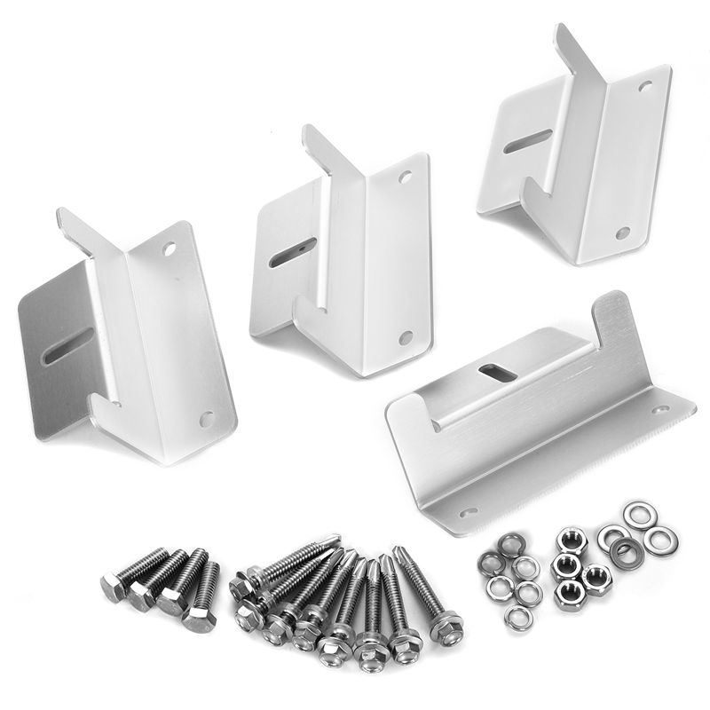 ZB 02 Silver Tone Solar Panel Mounting Z Bracket Set for Yacht Solar Panel in Solar Power Parts Accessories from Home Improvement