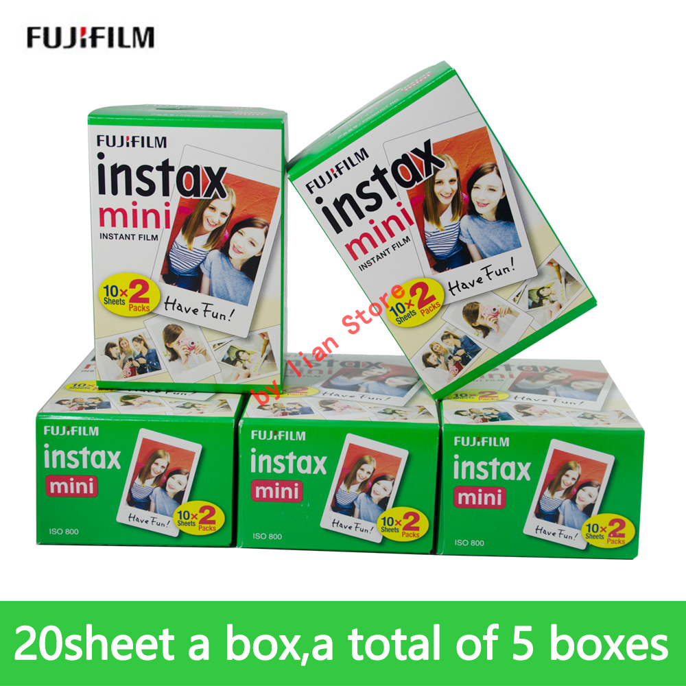 100 sheets Fuji Fujifilm Instax Mini 9 Film 3 inches White Edge Photo Paper Films For