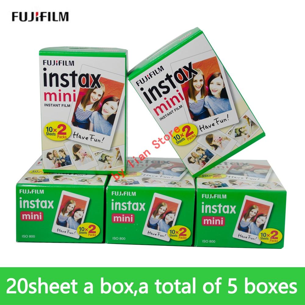 100 feuilles Fuji Fujifilm Instax Mini 9 Film 3 pouces blanc bord papier Photo Films pour instantané Mini 8 7 s 25 50 s 9 90 papier caméra