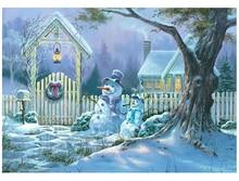 5D Diamond Embroidery Christmas Diy Painting Snowman Tree Cross Stitch Rhinestone Decoration
