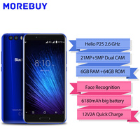Blackview P6000 Smartphone 5 5 16 9 FHD Face ID Helio P25 Octe Core 6180mAh 6GB