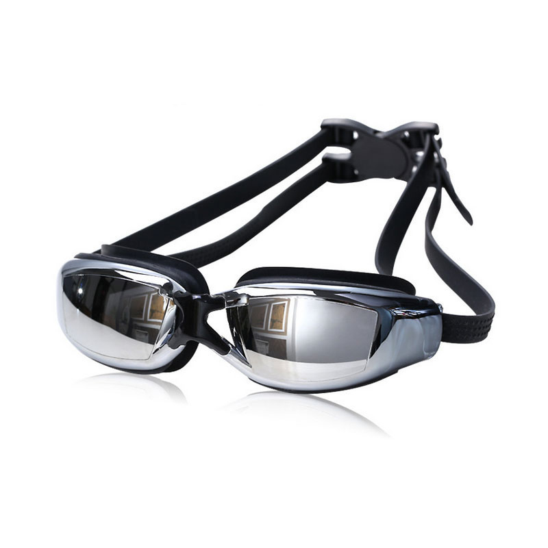 mens myopia prescription silicone swim glasses anti-fog and waterproof adult professional swim eyewear