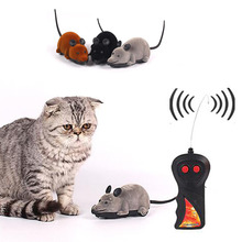 Delicate Black White Funny Pet Cat mice Toy Wireless Gray Rat Mice Toy Remote Control mouse For kids toys