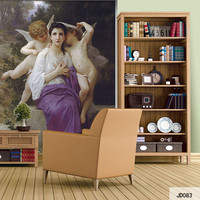Custom DIY Fabric Textile Wallcoverings For Walls Wall Mural Retro Cotton And Linen Washable For Living