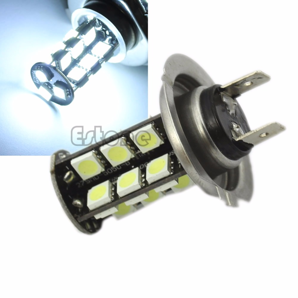 White <font><b>H7</b></font> 27-<font><b>LED</b></font> CANBUS Error Free Fog <font><b>Head</b></font> <font><b>Light</b></font> Turn Tail Backup Bulb <font><b>Lamp</b></font> 12V image
