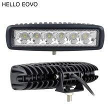 HELLO EOVO 2 шт. 6 дюймов 18 Вт Светодиодный светильник для индикаторов вождения мотоцикла внедорожная лодка автомобиль тягач 4x4 внедорожник ATV 12 В