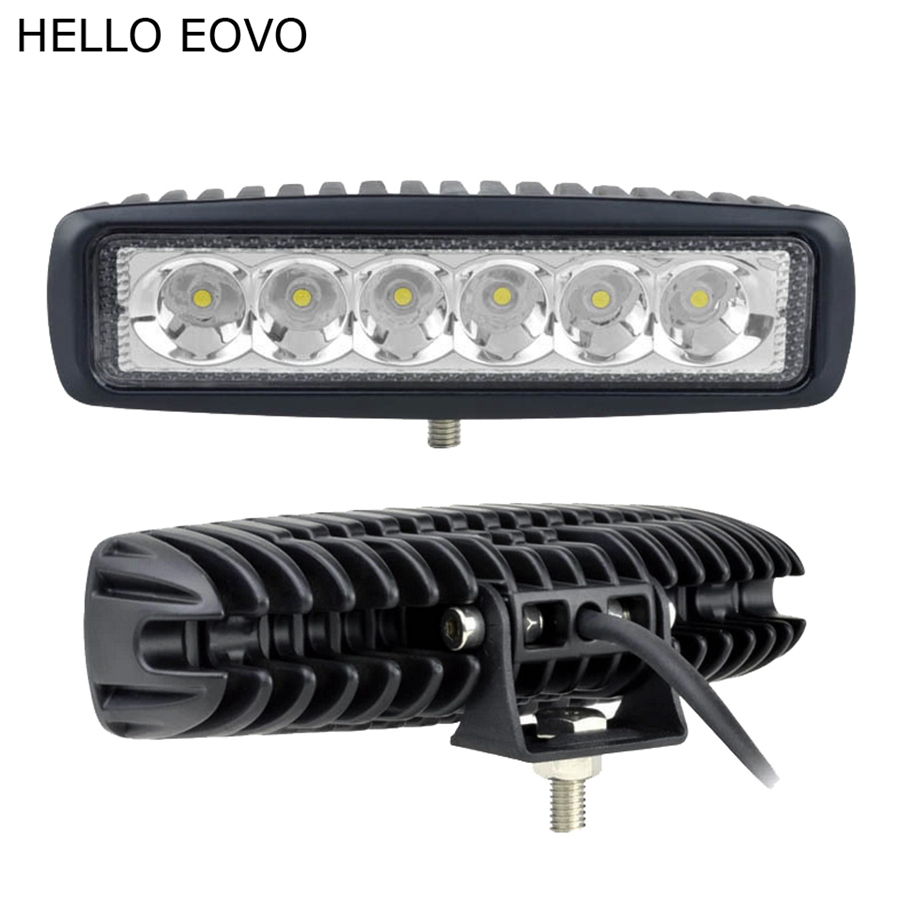 HELLO EOVO 2pcs 6 Inch 18W LED Work Light for Indicators Motorcycle Driving Offroad Boat Car Tractor Truck 4x4 SUV ATV 12V 1pc 18w led work light for motorcycle driving boat car tractor truck suv 6 inch flood lights
