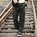 2016 plus size Loose jogger casual  pants Camouflage pants fashion men's trousers casual Cargo Pants wide