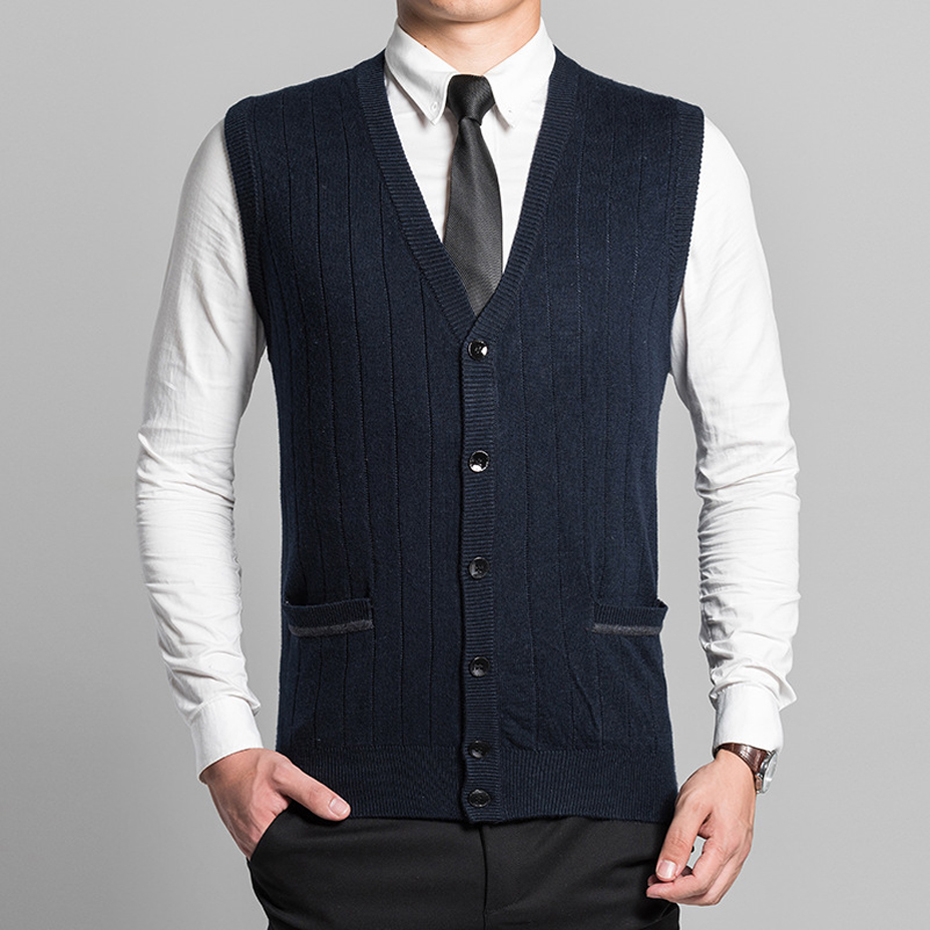 Buy men button sweater vest and get free shipping on AliExpress.com