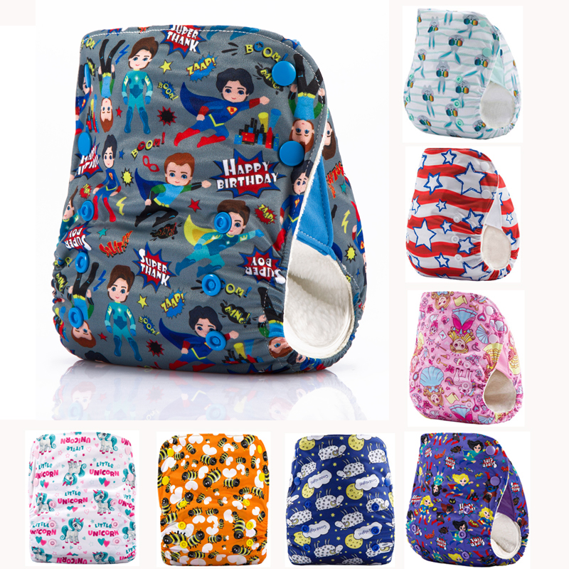 JinoBaby One Size Cloth Nappy Changing Baby Diapers Reusable Bamboo AI2 Cloth Diaper
