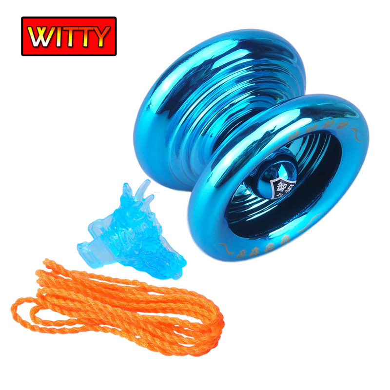 Exquisite Aluminum Alloy Yoyo High Speed High Precision Metal YoYo Ball Bearing YOYO Toys With String Tricks Diabolo Kids Toys C