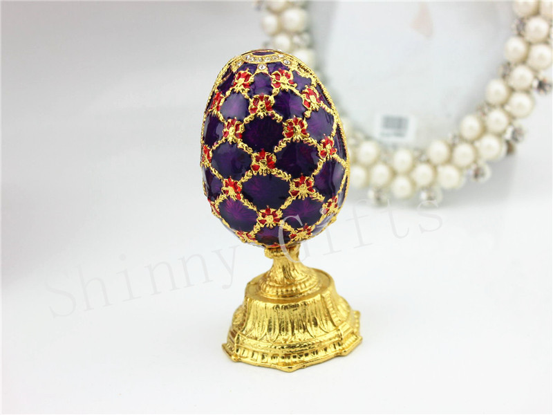 Faberge Egg Jewelry trinket jewelled gift Box Crystal Decorations Easter Gifts
