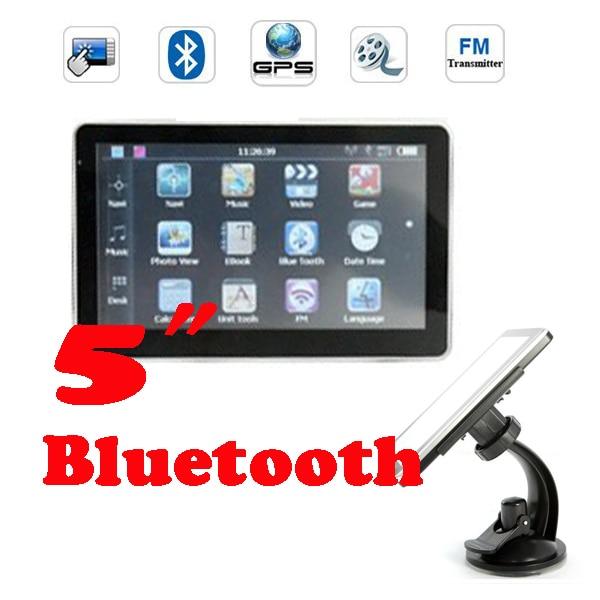DHL или FedEx 20 шт 5 gps-навигатор+ MTK+ 128 Мб+ 4 Гб+ Bluetooth+ Av in+ FM/3D карта 256 Мб 8 Гб