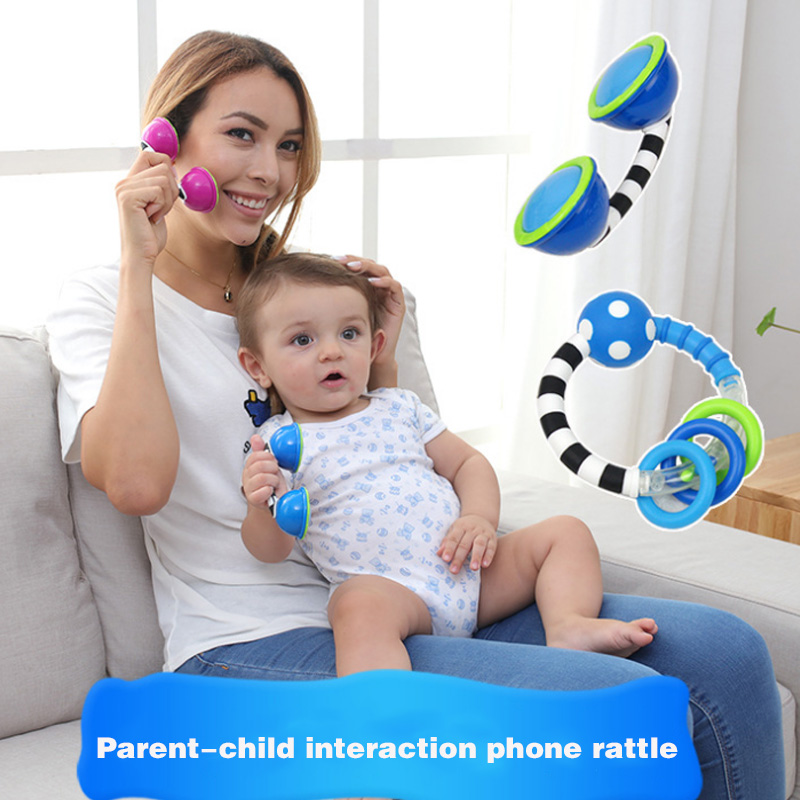 Logical Baby Toys Plastic Rattle Hand Jingle Shaking Phone Rattles Set Teether Appease Handbell An88 A Complete Range Of Specifications Baby Teethers