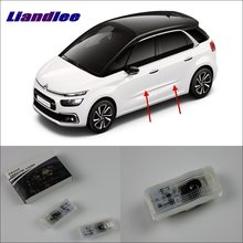 Liandlee Car Door Ghost Shadow Lights For Citroen Picasso Courtesy Doors Lamp / Brand Logo LED Projector Welcome Light liandlee car door ghost shadow lights for acura mdx acura zdx courtesy doors lamp brand logo led projector welcome light