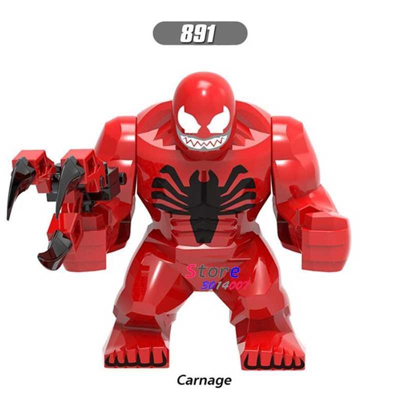 Único Grande Tamanho 7 CM Carnificina Anti-Veneno Venom Hulk Marvel Thanos Abater Obsidiana Batman Bane Figura modelos de Construção blocos Brinquedos
