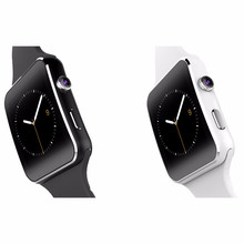 2016 New Bluetooth Smart Watch X6 Smartwatch sport watch For Apple iPhone Android Phone With Camera FM Support SIM free delivery