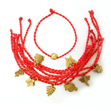 Sale Wholesale Multiple Styles Plant Animals Red Thread String Bracelet Lucky Rope for Women Men Lover Couple Gift
