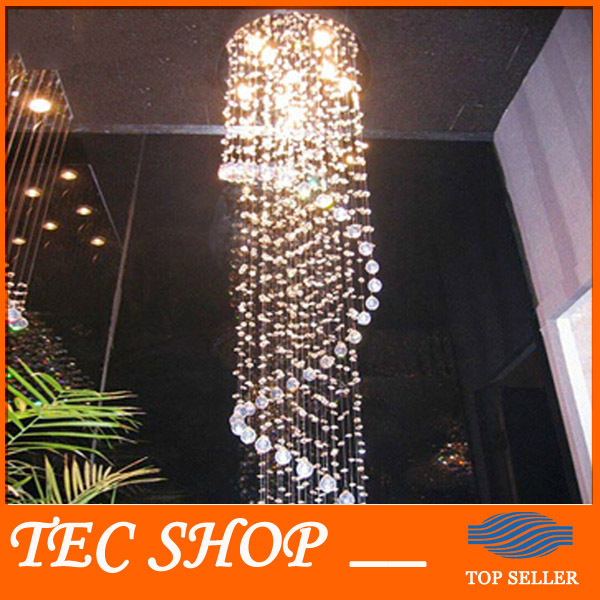 LED Modern K9 Crystal Chandeliers Crystal Lamp Double Staircase LED Crystal Chandeliers Free Shipping
