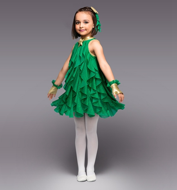 29bf02733 Girls Show Clothing Cute Princess Dress Costumes Dance Clothes Christmas  Tree Forestry