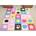 30*30*1 CM Patrón Soft EVA Foam Puzzle Gateando Cojín de la Estera del Piso alfombras Bebé Niños de Juguete Juegos de Protección Estera VBV14 P15 0.5