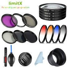UV CPL ND FLD Graduated Close Up Star IR Filter & Lens Hood Cap for Sony A6500 A6400 A6300 A6100 A6000 A5100 A5000 16 50mm lens