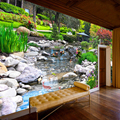 Custom Photo Wall Paper 3D Park Green Plant Creek Nature Landscape Wall Painting Living Room Bedroom Background Mural Wallpaper