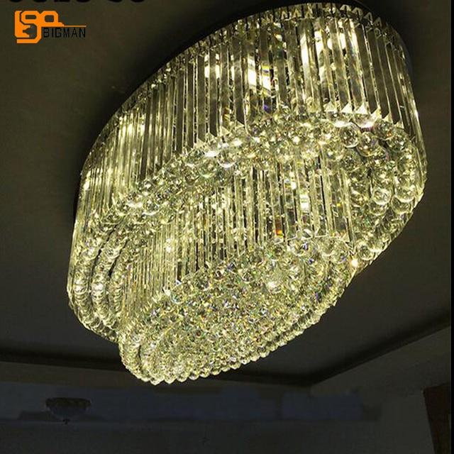 Oval design large crystal chandelier modern chandelier living room oval design large crystal chandelier modern chandelier living room lampluxury hotel crystal light fixture mozeypictures Images