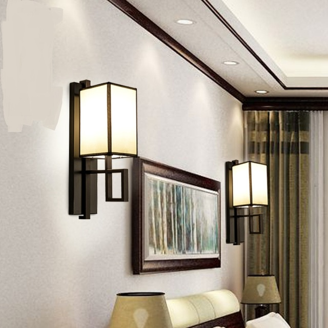 Wall Lamps Living Room Furniture Sets Ideas New Chinese Lamp Aisle Hall Back Ground Led Light Bedroom Hotel Club Staircase Iron Lighting Lu726242