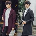 Windbreaker Men 'S Long Coat Warm Winter Jacket Men Casual Slim Single Breasted Parka Male Brand Clothing Nf06 z5