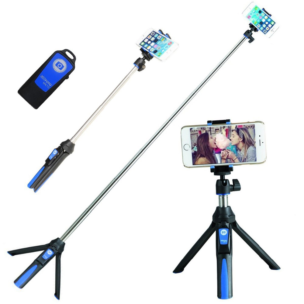 Smart Phone Bluetooth Selfie Mirror Long Selfie Stick Bluetooth Monopod Extended Handheld Monopod Waterproof Shelf Handy Stick