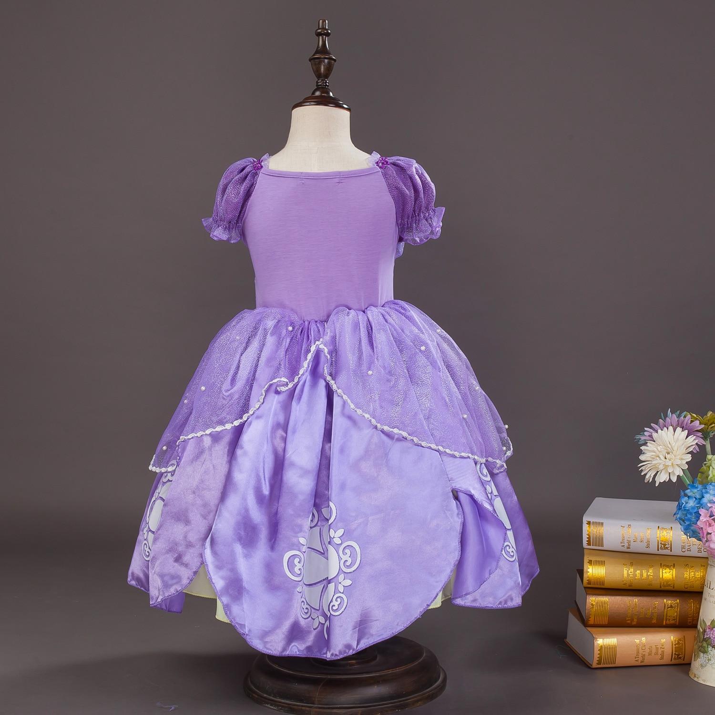2016 vestido de niña Kids Girls Little Sophia Princess Party Fancy - Ropa de ninos - foto 3